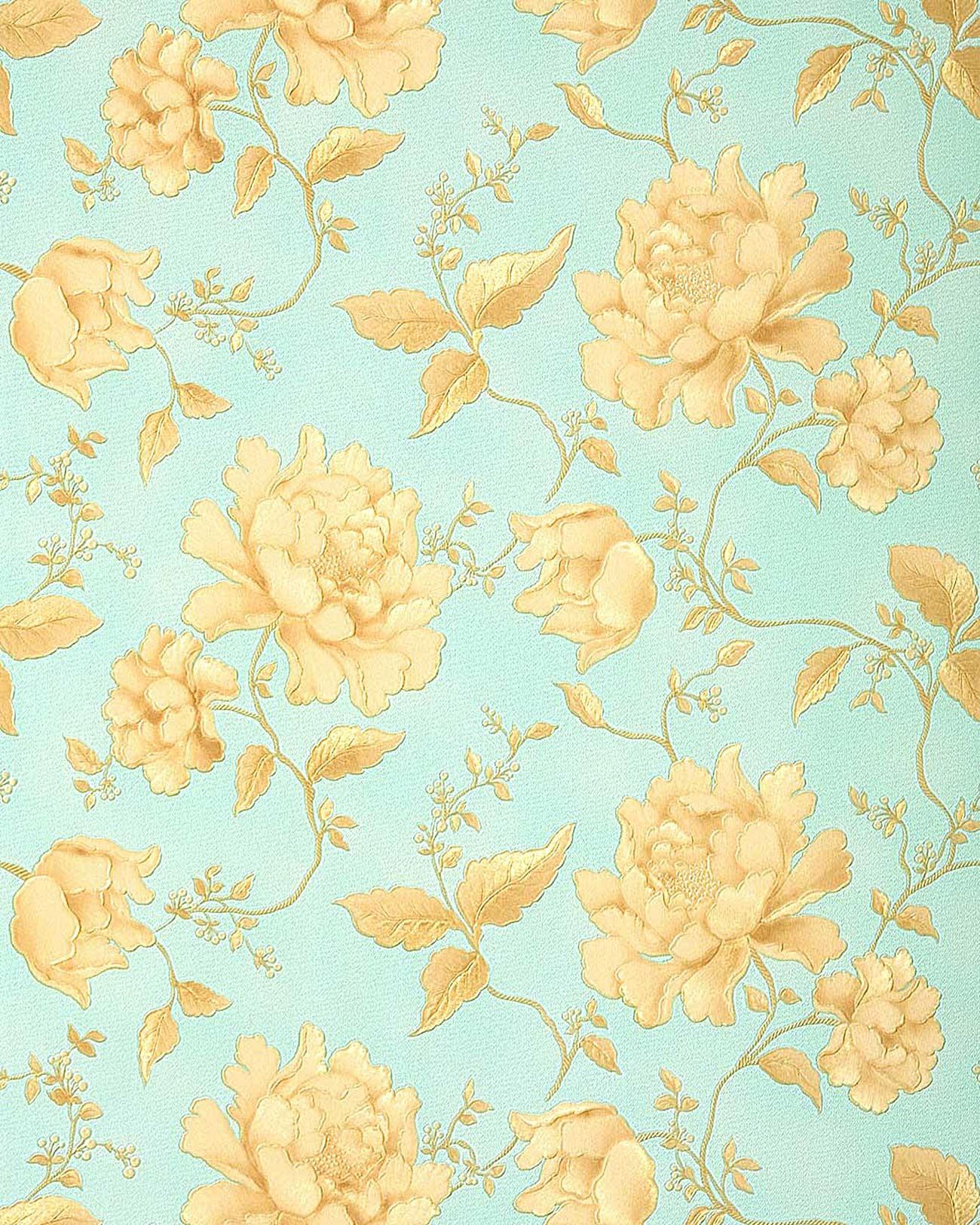 tapeten blumen florale muster tapeten shop. Black Bedroom Furniture Sets. Home Design Ideas