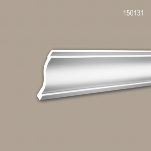 Eckleiste PROFHOME 150160 Zierleiste Stuckleiste Neo-Klassizismus-Stil wei/ß 2 m