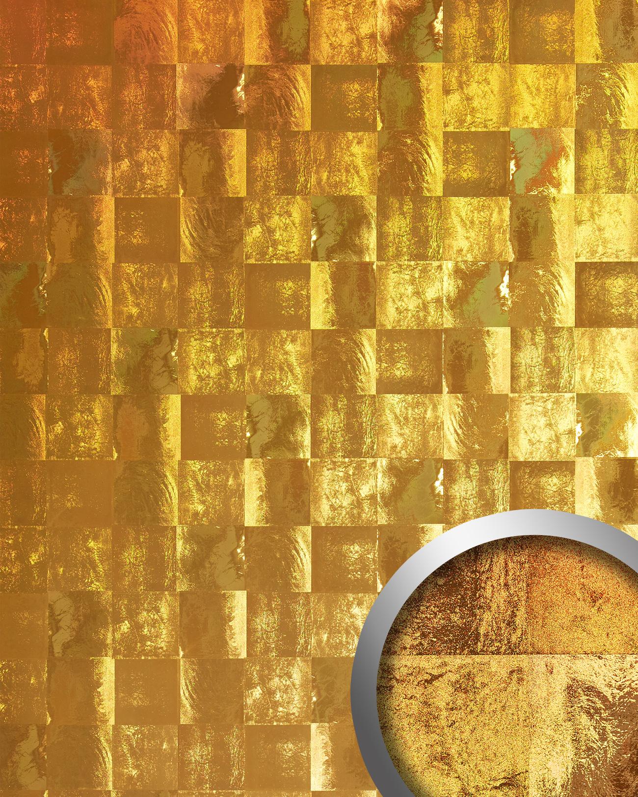Wandpaneele metalloptik tapeten shop for 3d tapete gold